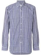 Mauro Grifoni Mauro Grifoni Cp165011 Blue/white Check Cotton -