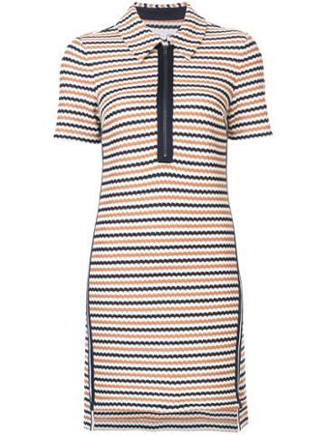 Veronica Beard - Striped Polo Dress - Women - Cotton - L, Blue, Cotton