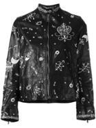 Valentino Printed Biker Jacket - Black