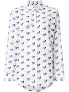 Equipment Heart Print Shirt - White