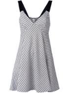P.a.r.o.s.h. Herringbone Patterned Sleeveless Dress