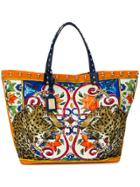 Dolce & Gabbana Beatrice Animal Print Tote - Multicolour