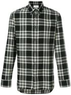 Maison Margiela Plaid Buttondown Shirt - Black