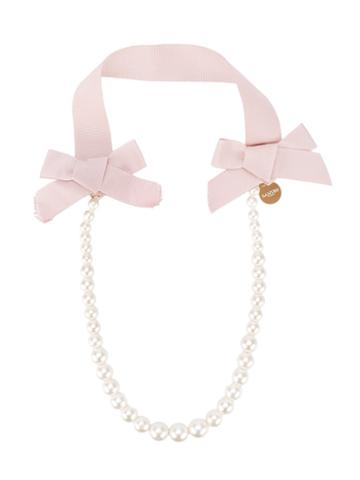 Lanvin Petite - Pear Necklace - Kids - Polyester - One Size, Girl's, Pink/purple