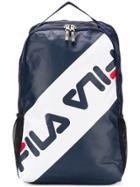 Fila Front Logo Backpack - Blue