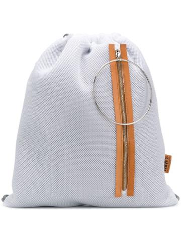 Mm6 Maison Margiela Mesh Drawstring Backpack - White