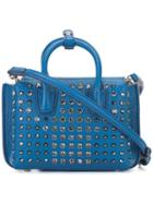 Mcm - Studded Crossbody Bag - Women - Leather - One Size, Blue, Leather