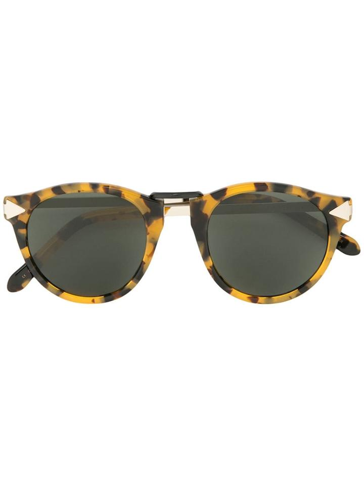 Karen Walker Helter Skelter Crazy Sunglasses - Brown