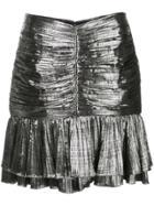 Jonathan Simkhai Metallic Mini Skirt - Silver