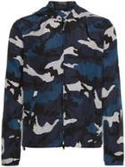 Valentino Hooded Camouflage Jacket - Blue