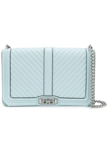 Rebecca Minkoff Chevron Quilted Crossbody Bag - Blue