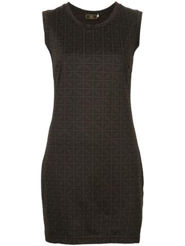 Fendi Vintage Zucca Pattern Short Dress - Brown