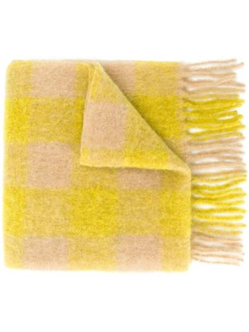 Forte Forte Checked Scarf - Yellow