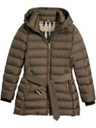 Burberry Puffer Hooded Jacket - Grey