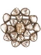 Petralux Vintage Style Flower Ring - Metallic