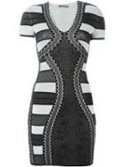 Alexander Mcqueen V-neck Pencil Mini Dress