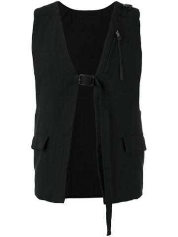 The Viridi-anne Buckle Strap Best, Black, Linen/flax/cotton