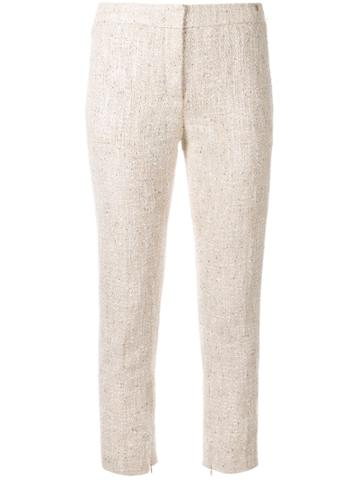 Chanel Pre-owned Skinny Cropped Trousers - Neutrals