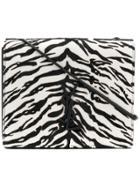 Saint Laurent Zebra Pattern Crossbody Bag - Black
