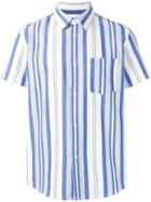 A.p.c. Woven Stripe Shirt, Men's, Size: Xl, Blue, Cotton