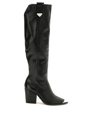 Schutz Schutz S2065300100001 Black Furs & Skins->leather