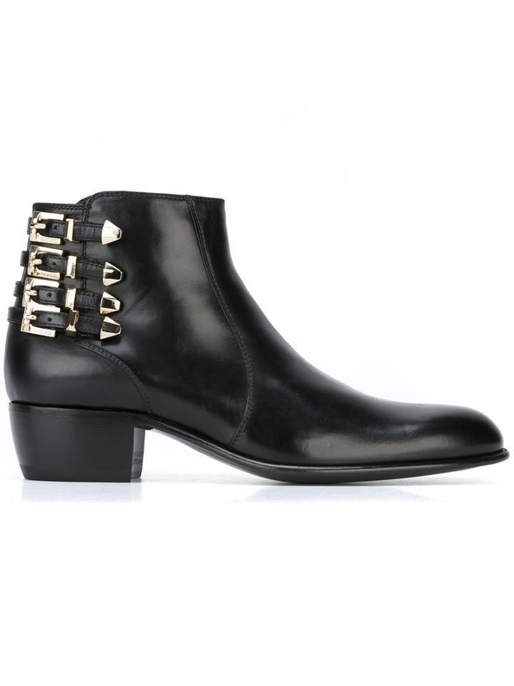 Cesare Paciotti Multiple Buckles Ankle Boots