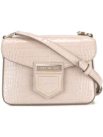 Givenchy Crocodile Effect Shoulder Bag, Women's, Pink/purple, Calf Leather