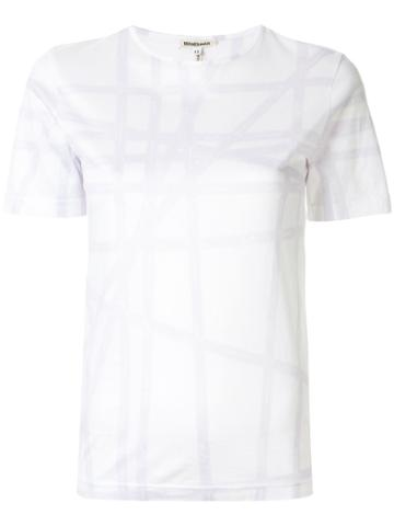 Hermès Pre-owned Check Print T-shirt - White