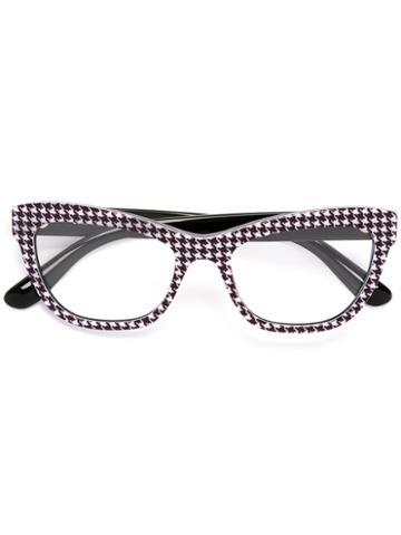Dolce & Gabbana Cat Eye Printed Glasses, Black, Acetate