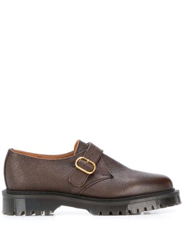 Ymc Side Buckle Monk Shoes - Brown