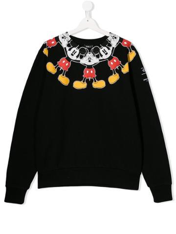 Marcelo Burlon County Of Milan Kids Teen Mickey Mouse Sweatshirt -