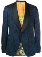 Etro Jacquard Tuxedo Blazer - Blue