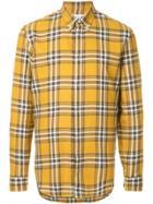 Maison Margiela Plaid Buttondown Shirt - Yellow & Orange