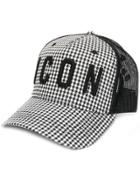 Dsquared2 Icon Houndstooth Cap - Black