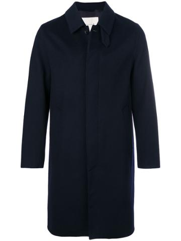 Mackintosh Navy Wool Coat - Blue