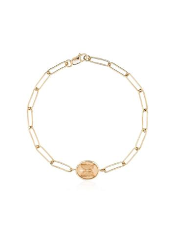 Retrouvai 14kt Yellow Gold Butterfly Signet Bracelet