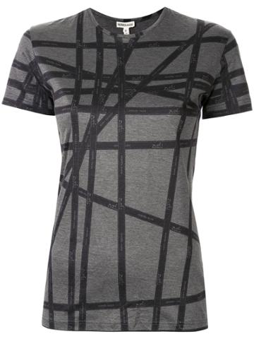 Hermès Pre-owned Logo Striped Slim-fit T-shirt - Grey