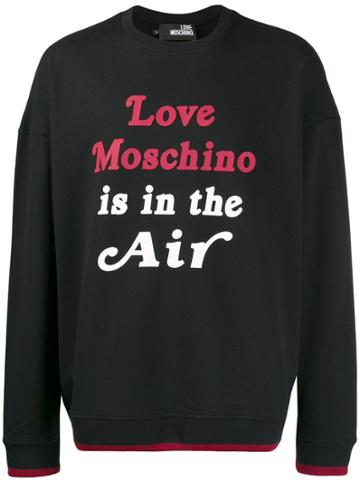 Love Moschino Quote Print Sweatshirt - Black