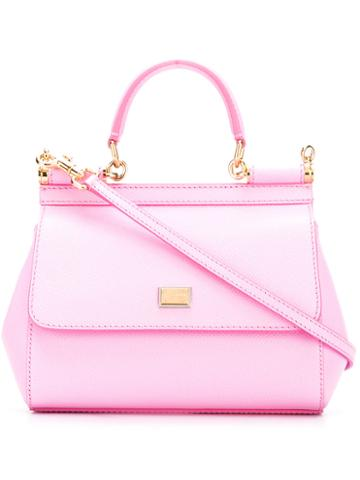 Dolce & Gabbana - Small Sicily Shoulder Bag - Women - Leather - One Size, Pink/purple, Leather