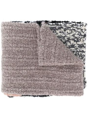 Missoni Knitted Stripe Scarf - Black