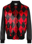 Saint Laurent Sequin Embellished Bomber Jacket