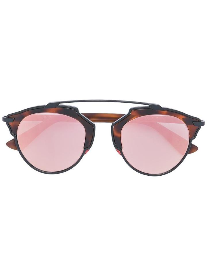Dior Eyewear 'so Real' Sunglasses, Women's, Brown, Acetate/metal (other)