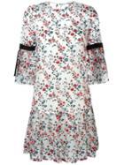 Erdem Sheer Floral Shift Dress