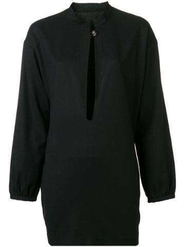 Yves Saint Laurent Vintage 1990 Front Slit Top - Black