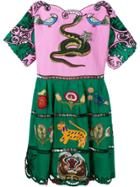Gucci Embroidered Dress - Green