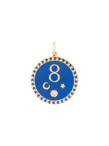 Foundrae Karma Medallion Pendant, Women's, Metallic