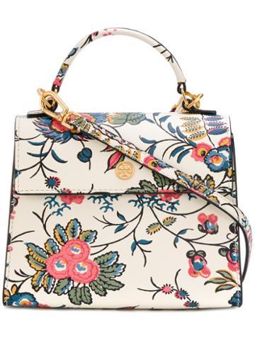 Tory Burch - Floral Print Cross-body Bag - Women - Polyurethane - One Size, Polyurethane