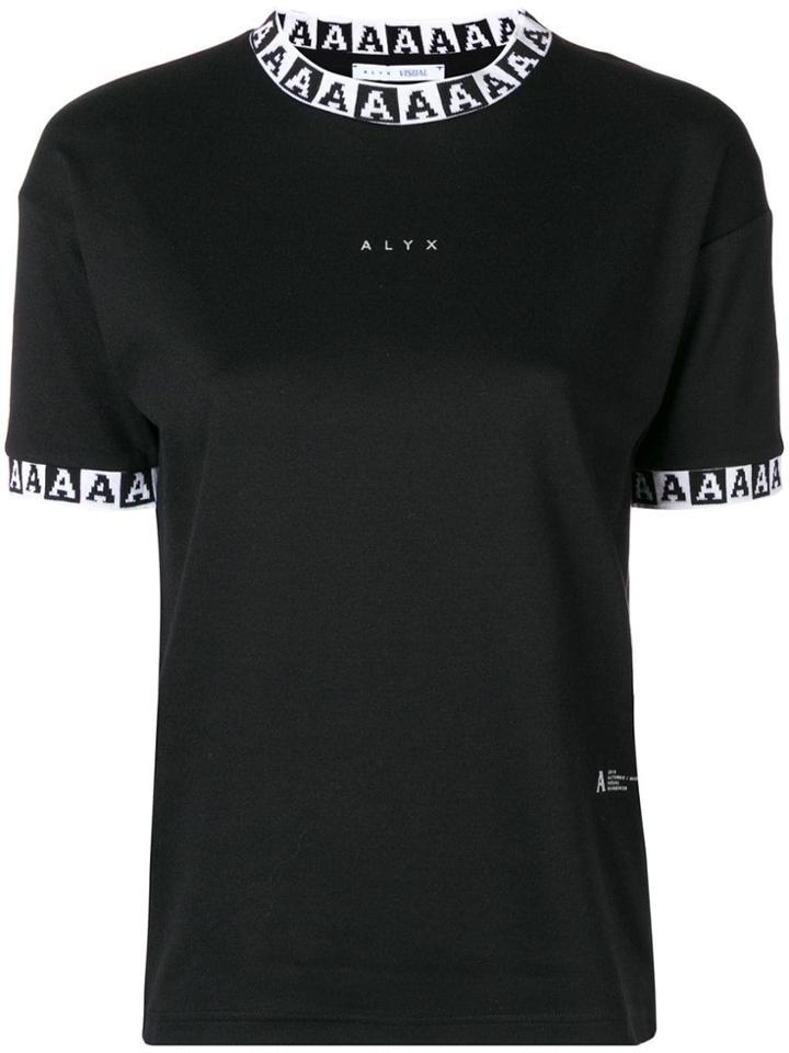 Alyx Monogram Ribbed Tshirt - Black