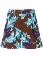 P.a.r.o.s.h. Floral Print Shorts - Brown