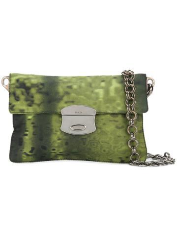 Prada Vintage Flip Lock Mini Bag - Green